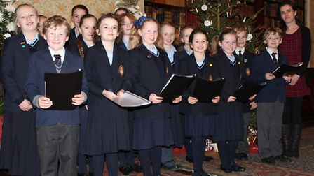 The choir with Marie Cunningham at Peckover House.