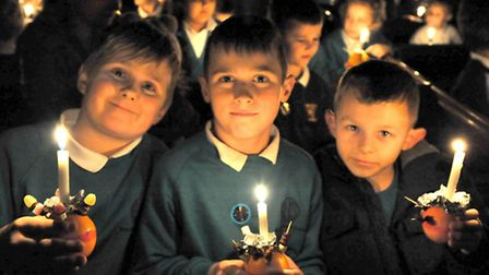 Nene and Ramnoth FederationSchools Christingle service at St Peter's Church, Wisbech. Picture: Steve