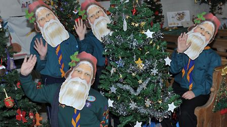 St Augustine's Church Christmas Tree Festival. Wisbech. 3rd Wisbech scout group. Picture: Steve Will