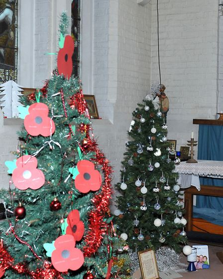St Augustine's Church Christmas Tree Festival. Wisbech. Picture: Steve Williams.