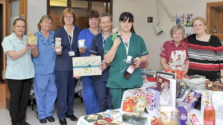 The Friends of North Cambs Hospital held a Christmas tombola and cake sale at the Peckover Ward, Wis