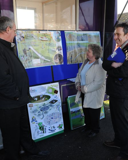 Councillor David Patrick, Linda Wales and horticultural officer Kevin Wilkins at Spider Park. Pictur