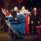 Ben Falkiner and Hannah Sayer as Mr and Mrs Fezziwig in A Christmas Carol at the Barn Theatre [Pictu