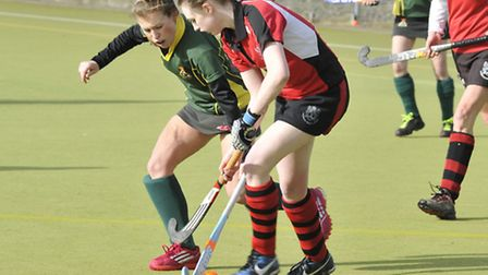 Ely Ladies 1st Hockey v Wisbech seconds.