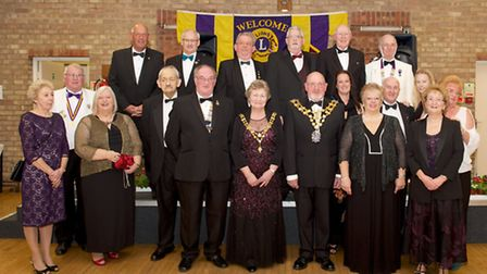 Wisbech Lions gathered for their anniversary dinner.