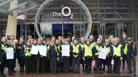 Pupils at the arena.