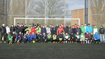 There was a big turnout for the football tournament.