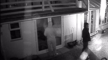 CCTV footage of the thieves approaching Carmen Cheval's house on Elm High road, Wisbech.