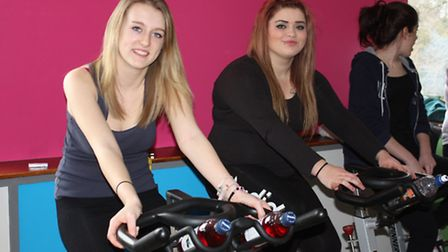 College of West Anglia students Kirsty Thomas (left) and Abbie Wood organised the Billy Lee fundrais