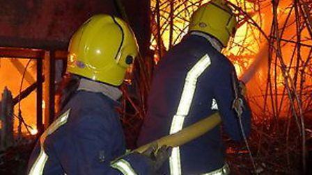 Crews attended a barn fire on North Brink in Wisbech. Picture: CAMBS FIRE