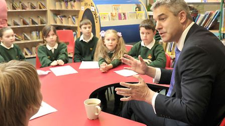 MP Steve Barclay was quizzed by pupils during his visit.