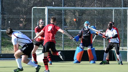 Wisbech hockey v Wapping,Picture: Steve Williams.