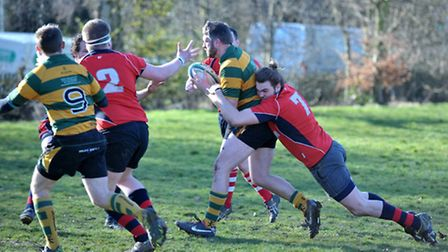 Wisbech Rugby v Crusaders.Picture:Steve Williams.
