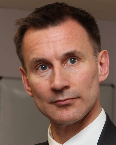 Health Secretary Jeremy Hunt at the opening of the new emergency department at the Lister Hospital