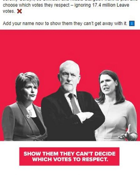 A Facebook advert promoted by the Tories. Photograph: Conservatives/Facebook/PA Wire .