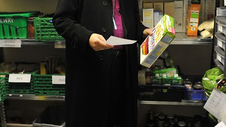 The Bishop of Ely at Wisbech food bank. Picture: ROB MORRIS