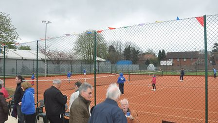 The Wisbech tennis courts.