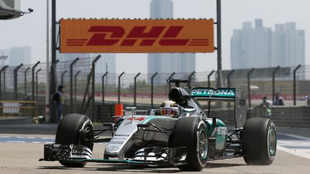 Lewis Hamilton on track ahead of the 2015 Chinese Grand Prix [Picture: Mercedes-Benz]