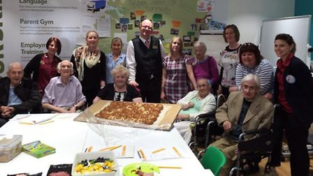 Orchard House residents enjoyed a day out at Tesco.