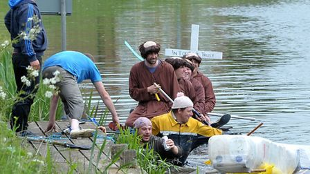 Outwell raft race.Picture: Steve Williams.