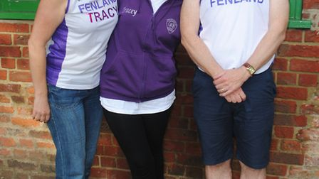 Fenland Running Club members Tracy Farr, Tracey Howard and Ian King.
