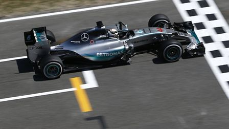 Lewis Hamilton in practice ahead of the 2015 Spanish Grand Prix [Picture: Mercedes-Benz]