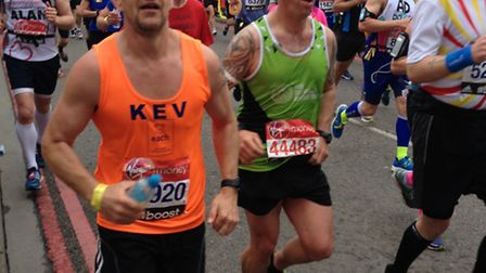Kev Barnes running the London Marathon.