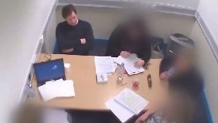 Carl Wheatley is interviewed by detectives after murdering his daughter Alexa-Marie Quinn