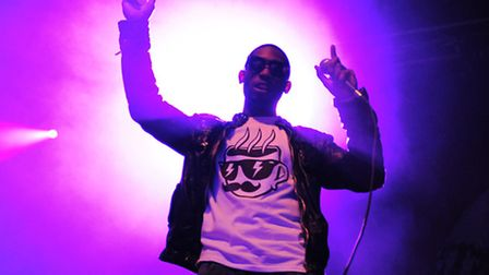 Tinie Tempah on stage at The Forum
