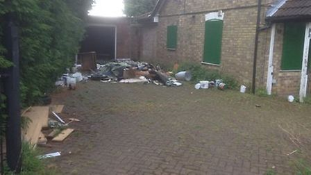 Fly-tipping at Sparrowgate Road in Walsoken.