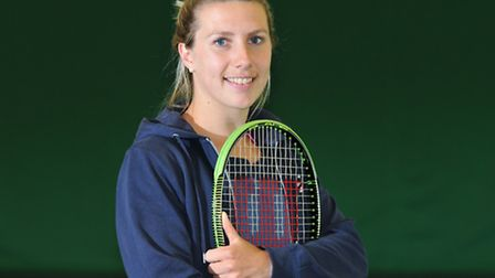 Professional ladies' tennis player Lucy Brown who trains at Gosling sports park