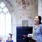 Jane Hawking speaking at the second Flamstead Book Festival [Picture: Alex Ridley]
