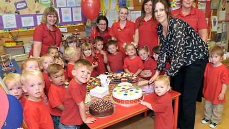 Celebration of Outstanding Ofsted at Murrow Pre-School, Wisbech. Picture: Steve Williams.