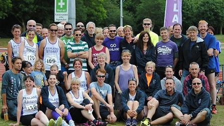 FRC runners at the Peterborough Green Wheel Relay.