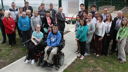 College of West Anglia Isle campus garden opening.