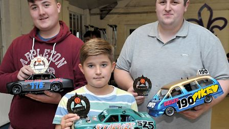 SMF raceway, Billy Lee charity event. Wisbech. best prepared bangers, Left: Ethan Parrin, James Cabl