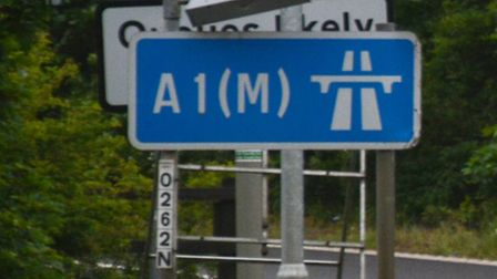 The A1(M) northbound slip road at Junction 6 for Welwyn will be closed