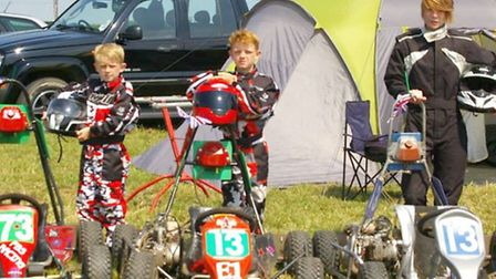 Karters Sonny, Frankie and Zoe Wright.