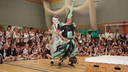 Oliver Mann and James Fear at the Wisbech Grammar School Fashion Show. Picture: TIM CHAPMAN.