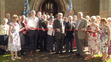 Official opening of the Poppy Link initiative by the Friends of St AugustineÄôs Church in Wisbech.