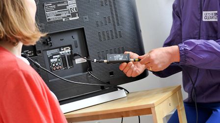 Experts will be on hand to help in the case of TV signal disruption. Picture: LIZ CARRINGTON.