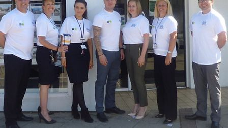 Dressing down for SportsAid – the Harrison Murray and The Nottingham teams. Left to right; Martin Ha