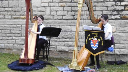 Fenland Music Centre musicians performing at March Rotary Club.