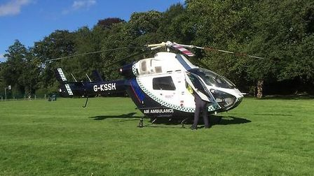 Magpas helicopter at Wisbech Park