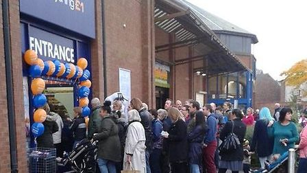 The opening of Poundworld last October drew a big turnout.