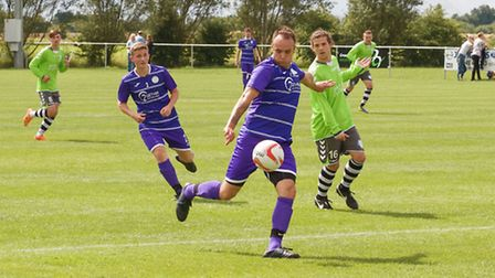 Action from Wisbech St Mary vs King's Lynn Reserves.
