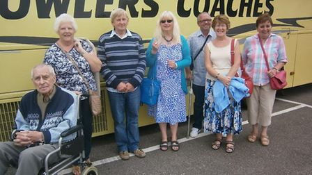Members of Wisbech Stroke Club get ready to board the bus home after an enjoyable day trip to the No