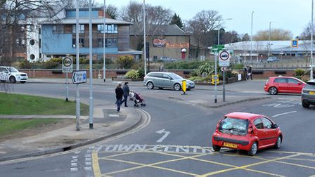 The collision took place at the Horsefair roundabout. Picture: Steve Williams.