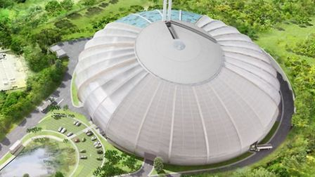 Artist's impression of the incinerator at New Barnfield