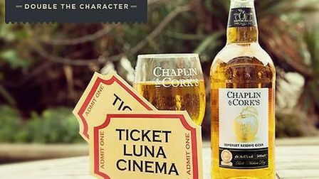 Chaplin and Cork's cider and The Luna Cinema